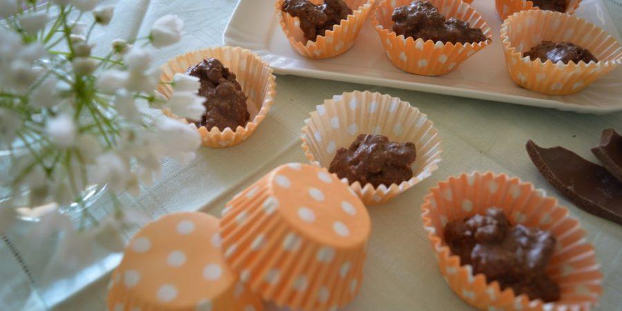cioccolatini fatti in casa con biscotti avanzati