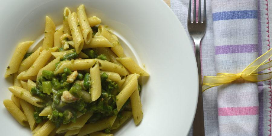 pasta con gamberi e asparagi