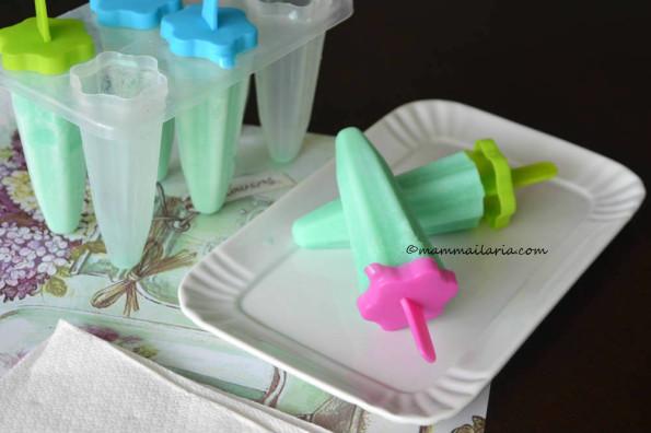ghiaccioli latte e menta