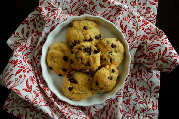 biscotti all'agrume con cioccolato