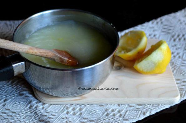 crema all'acqua al limone