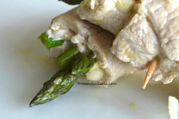 involtini farciti con asparagi e galbanino