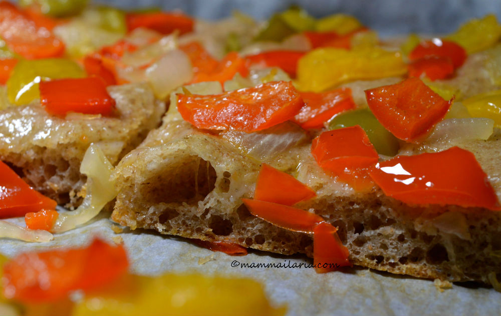pizza semintegrale ai peperoni