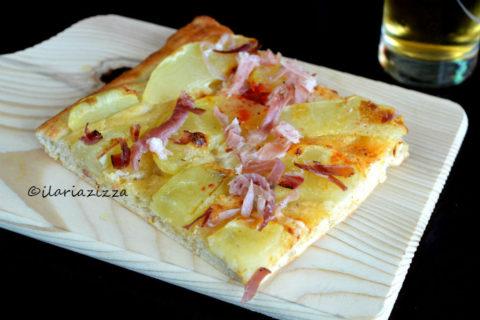 pizza con impasto al mascarpone
