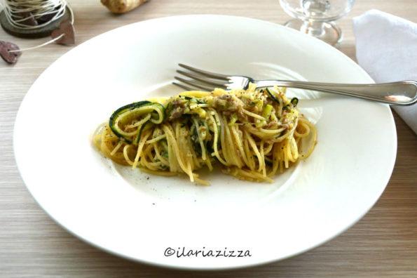 Pasta zucchine e tonno, ricetta con zenzero