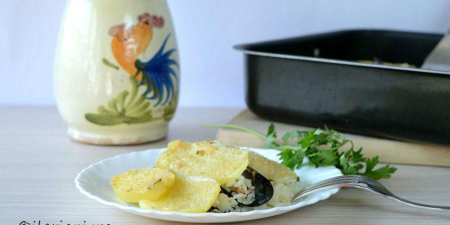 riso patate cozze tiella barese