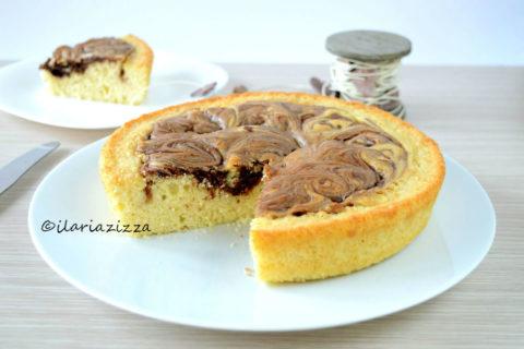 torta alla panna variegata alla nutella