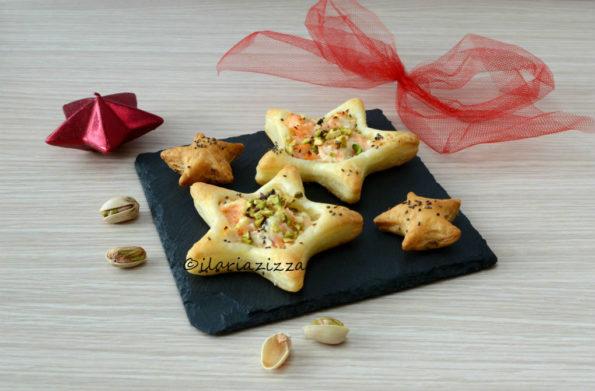 Vol-au-vent di salmone con granella di pistacchi