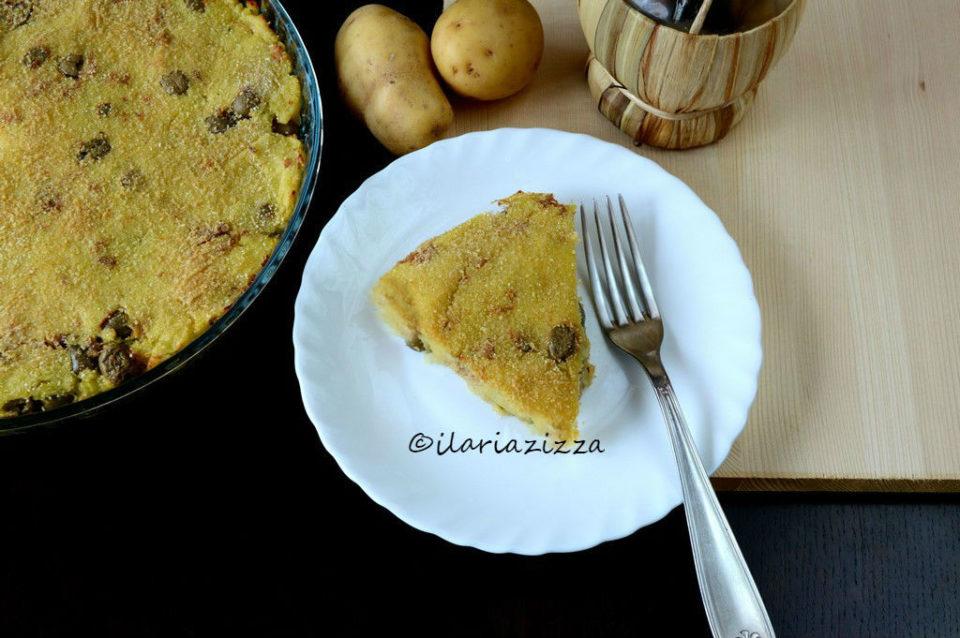 Tortino di patate con tonno e olive