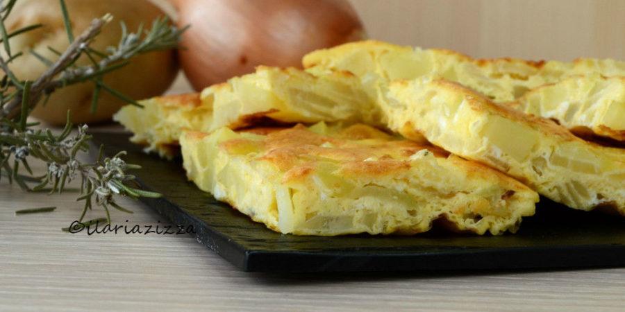 Frittata con patate e cipolle