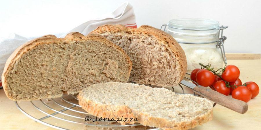 Pane semi integrale con esubero di pasta madre