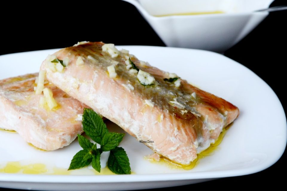 Filetto di salmone in padella