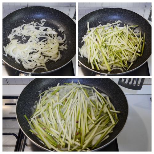 Straccetti di tacchino con asparagi