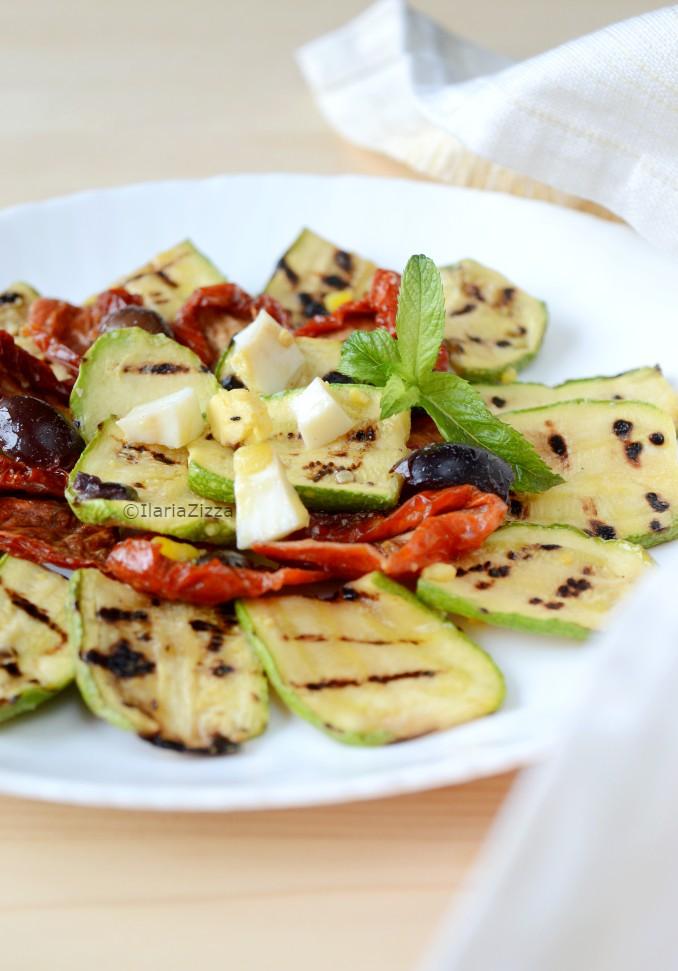 Insalata di zucchine grigliate